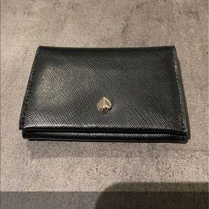NWT Kate Spade Mila bifold card holder black